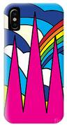 Cathedral Spires Stained Glass Lichfield IPhone Case