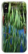 Cattail Pond In Pastel IPhone Case