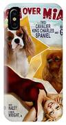 Cavalier King Charles Spaniel Art - Moon Over Miami Movie Poster IPhone Case