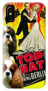 Cavalier King Charles Spaniel Art - Top Hat Movie Poster IPhone Case