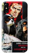 Cavalier King Charles Spaniel Art - Vertigo Movie Poster IPhone Case