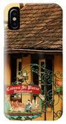 Caveau St Pierre Sign In Colmar France IPhone Case