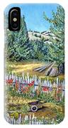 Cazadero Farm And Flowers IPhone Case