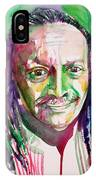 Cecil Taylor - Watercolor Portrait IPhone Case
