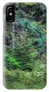 Cedar Along The Trail Of Cedars Glacier National Park Painted IPhone Case