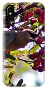 Cedar Waxwing In Flight 030515a IPhone Case