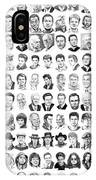 Celebrity Drawings IPhone Case
