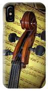 Cello Scroll With Sheet Music IPhone Case