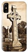 Celtic Cross In Sepia 1 IPhone Case