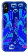 Celtic Fish On Blue And Lavender IPhone Case