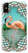 Celtic Flamingo Art IPhone Case