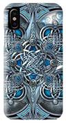 Celtic Hearts - Blue And Silver IPhone X Case