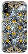 Celtic Hearts - Gold And Silver IPhone X Case
