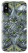 Celtic Hearts - Green And Silver IPhone X Case