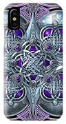 Celtic Hearts - Purple And Silver IPhone X Case