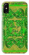 Celtic Irish Clover Home Blessing IPhone Case