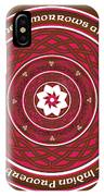 Celtic Lotus Mandala In Pink And Brown IPhone X Case