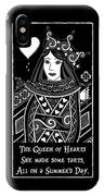 Celtic Queen Of Hearts Part I In Black And White IPhone X Case