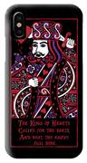 Celtic Queen Of Hearts Part IIi The King Of Hearts IPhone X Case