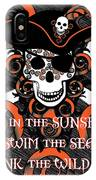 Celtic Spiral Pirate In Orange And Black IPhone X Case