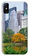 Central Park And Fifth Autumn View IPhone Case
