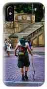 Central Park Hiker IPhone Case