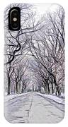 Central Park Mall In Winter IPhone Case