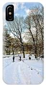 Central Park Snow Storm One Day Later2 IPhone Case