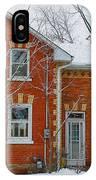 Century Home In Winter 3 IPhone Case