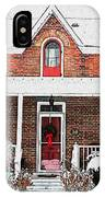 Century Home With Christmas Wreath IPhone Case