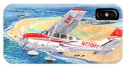Cessna 206 Flying Over The Outer Banks IPhone Case