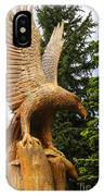 Chainsaw Carved Eagle IPhone Case
