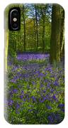 Chalet Wood Wanstead Park Bluebells IPhone Case