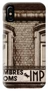 Chambres Imperial Lisbon IPhone Case
