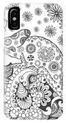 Chameleon In Fantasy Forest. Animals IPhone Case