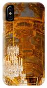 Chandeliers And Ceiling Of Versailles IPhone Case