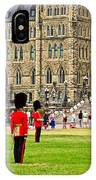 Changing Of The Guard In Front Of Parliament Building In Ottawa- IPhone Case