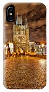 Charles Bridge At Night IPhone Case