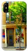 Charlevoix And Notre Dame Little Antique Shops St Henri Art Montreal Street Scene Carole Spandau IPhone Case