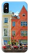 Charming Town Square In Old Town Tallinn-estonia IPhone Case