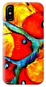 Chasing Red Fish IPhone Case