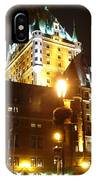Chateau Frontenac At Night IPhone Case