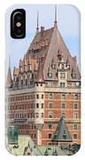 Chateau Frontenac Quebec City Canada IPhone Case