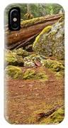 Cheakamus Rainforest Debris IPhone Case