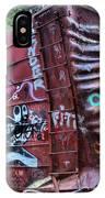 Cheakamus Box Car Graffiti IPhone Case