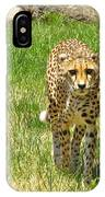 Cheetah Approaching IPhone Case