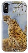 Cheetah With Cub IPhone Case