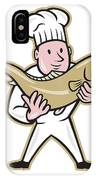 Chef Cook Handling Salmon Fish Standing IPhone Case