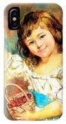 Cherry Basket Girl IPhone Case