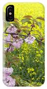 Cherry Blossom And Rapeseed IPhone Case